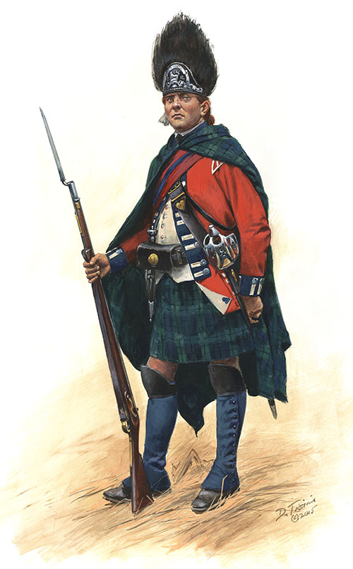 Grenadier of the Second Battalion, Royal Highland Emigrants 1777
